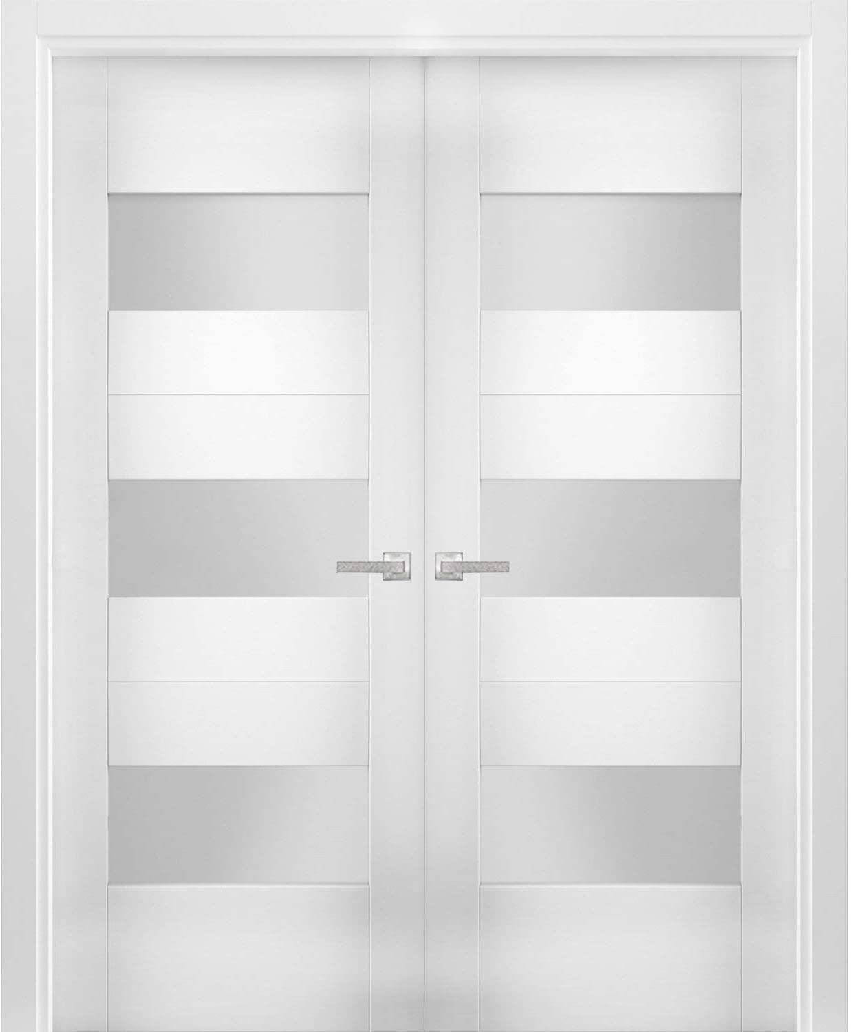 Solid French Manufacturer regenerated product Double Doors 72 x 84 6003 Opaque Cheap bargain inches Sete Glass