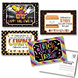 Halloween Treat Themed Blank Postcards To Send To Kids, 4'x6' Fill In Notecards (4 different design) by AmandaCreation (20)