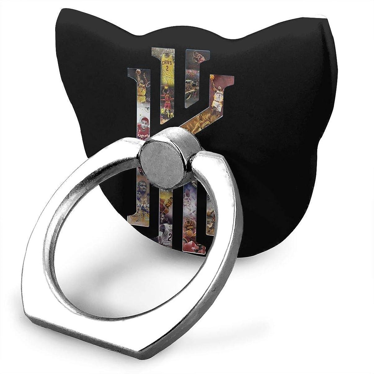 征服する簡単なカレッジバスケ選手 コービー?ブライアン スマホリング 猫耳 薄型 ネコ型 スマホ りんぐ ホルダー 強吸着力 落下防止 携帯リング 360° 角度調整 IPhone/Android各種他対応