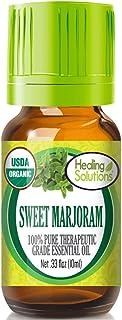 Organic Sweet Marjoram Essential Oil (100% Pure - USDA Certified Organic) Best Therapeutic Grade Essential Oil - 10ml