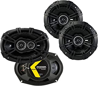 $139 » Kicker 43DSC69304 D Series 6x9 Inch 360 Watt 3 Way Dual Speakers with 43DSC504 D Series 5.25 Inch 200 Watt 4 Ohm 2 Way Car...