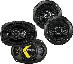 Kicker 43DSC69304 D Series 6x9 Inch 360 Watt 3 Way Dual Speakers with 43DSC504 D Series 5.25 Inch 200 Watt 4 Ohm 2 Way Car... photo