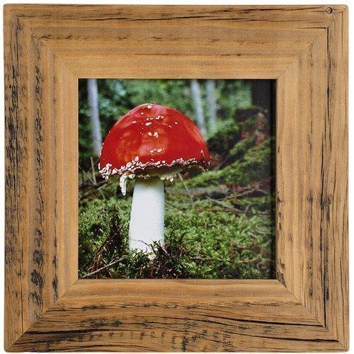 Mein Landhaus Bilderrahmen aus echtem Alt-Holz Stil Vintage, rustikal - handgefertigte Unikate in dunkel-braun 13X18