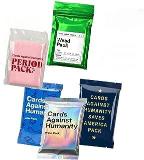 Cards Against Humanity Weed & Period & Pride & Jew Pack & Saves America