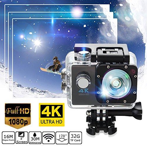Gold - SJ9000 [WALLER PAA] Waterproof 4K SJ9000 WiFi HD 1080P Ultra Sports Action Camera DVR Cam Camcorder