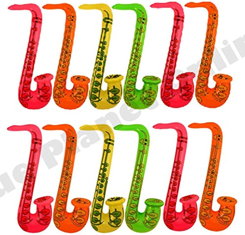 Bulk Buy Offers Inflatable Saxophone Musical Instrument Hawaiian Fancy Dress (Quantity  48)