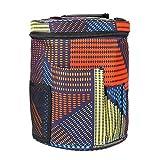 Borsa cilindrica per riporre filati, lana e uncinetto, contenitore per palline di lana, cestino fai da te, per maglioni e lavori all'uncinetto