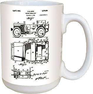 Jeep Patent Coffee Mug - Large 15 Ounce Ceramic Mug