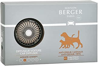 MAISON BERGER - Refillable Car Vent Clip Diffuser Set - 3.1 x 2 x 0.8 inches - Made in France (Anti-Pet Odor)