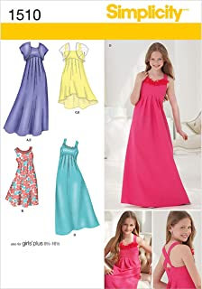 Simplicity 1510 Girl's Special Occasion Dress Sewing Pattern, Sizes 8.5-16.5