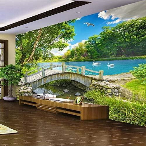 Details about  /3D Pavilion Bridge Lake 24 Wall Paper Decal Dercor Home Kids Nursery Mural  Home