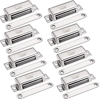 Magnetic Door Latch Jiayi 8 Pack Cabinet Magnet 40 lbs Magnetic Door Catch Hardware Stainless Steel RV Cabinet Latches and Catches for Kitchen Drawer Cupboard Door Closer Closet Door Magnets Closure