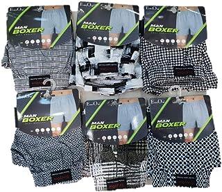 EveryOne Men cotton boxer, Multi color, set of 6 Pieces, underwear boxer brief shorts for men color
