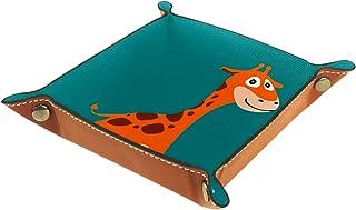 Vockgeng Dessin animé Long cerf Brun Boîte de Rangement Panier Organisateur de Bureau Plateau décoratif approprié pour Bur...