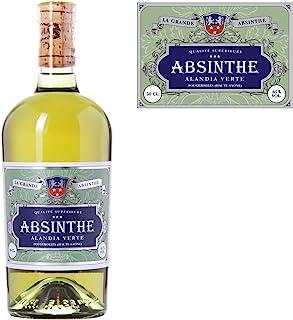 Absinth ALANDIA Verte | Ohne Farbstoff | Original Rezeptur aus dem 19. Jh. | Traditionelle Herstellung | 65% Vol. | 1x 0.5 l