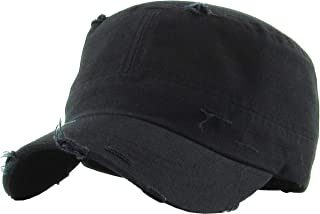 Vintage Distressed Cadet Army Cap Basic Everyday Military Style Hat
