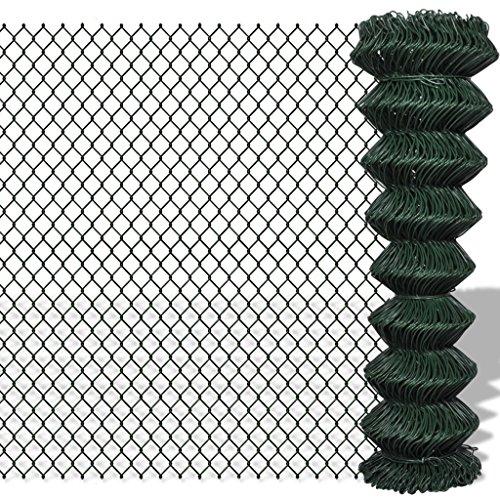 Tidyard Malla de Alambre Valla de Jardín,Decoración Protección para Hogar y Propiedad,PVC Verde1,5x15M