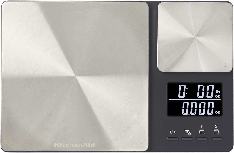 KitchenAid Dual Platform Mail order cheap Digital Spring new work Kitchen Scale pound 11 capacit
