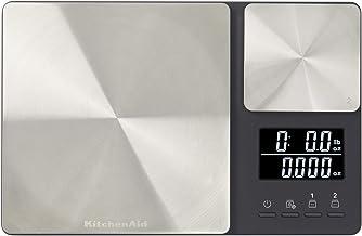 KitchenAid KQ909 Dual Platform Digital Kitchen Scale, 11 pound capacity, Black