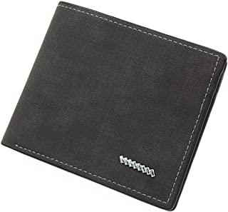 BeniNew men's wallet short multi-card casual wallet-black