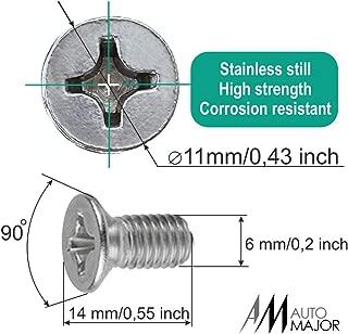 Screw Rotor Brake Disc Retaining - Set is Best for Honda, Acura, Hyundai, Kia, Mazda, VW Volkswagen, Audi, Porsche, VAG - Great Kit of 8 pcs Stainless Steel Retaining Screws by Automajor