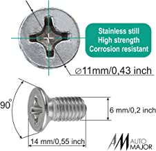 Screw Rotor Brake Disc Retaining - Set is Best for Honda, Acura, Hyundai, Kia, Mazda, VW Volkswagen, Audi, Porsche, VAG - Great Kit of 8 pcs Stainless Steel Retaining Screws by Automajor