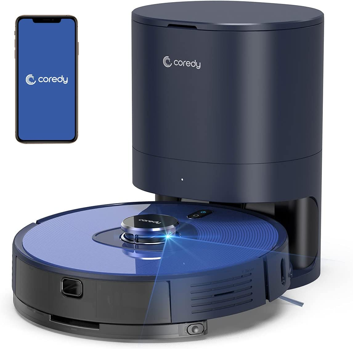 Coredy Low price L900X Robot Vacuum Cleaner Rapid rise Self Li with Station Emptying