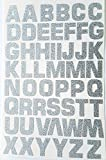 52 letras autoadhesivas Glitterati de plata;alfabeto/letras en pegatinas