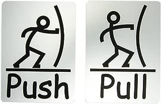 Fun Push Pull Door Sign (Brushed Silver)