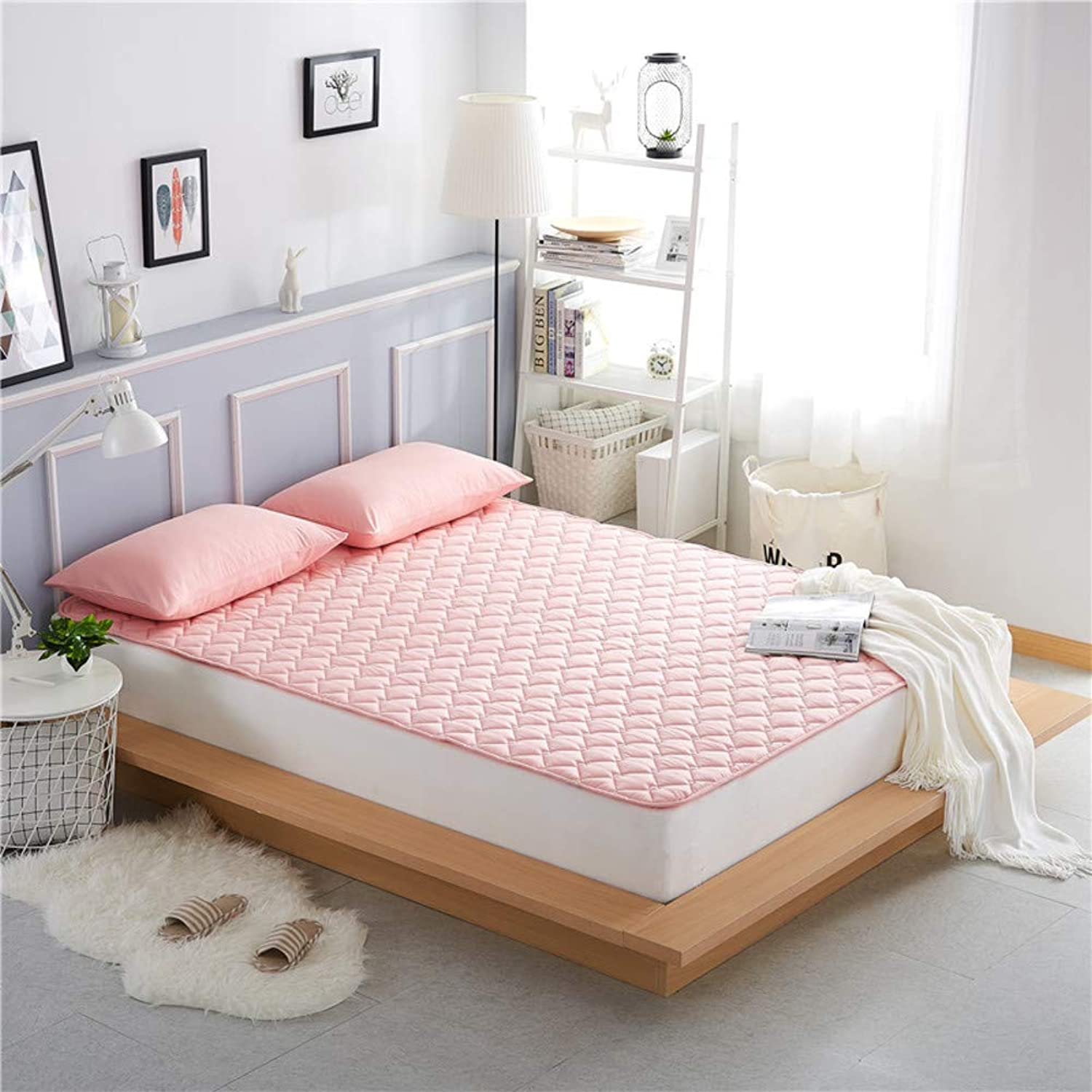 Foldable Mattress,Waterproof Bed Pad,Washable Thin 100% Cotton Anti-skidding for Bedroom-A 120x200cm(47x79inch)