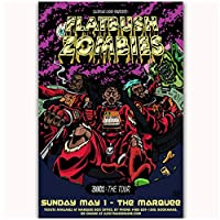 Suuyar Flatbush Zombies Hip Hop Group Music Star Hot New Wall Art Poster And Prints Top Print On Canvas Home Bedroomdecoration-24X35インチX1フレームレス