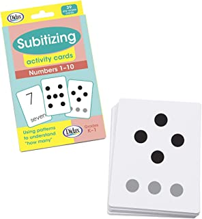 Didax Educational Resources Subitizing Activity Cards, Numbers 1-10