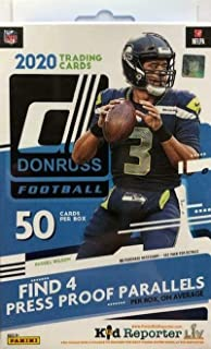2020 Donruss NFL Football Factory Sealed Hanger Box 50 Cards in all (4) PRESS PROOF PARALLLELS & (4) ROOKIES Look for RC &...
