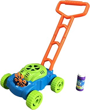 Yaoyodd19 Mower Toys,Bubble Machine Lawn Games,Outdoor Push Lawnmower Toys,Christmas Birthday Gifts for Kids Boys Girls - Gre