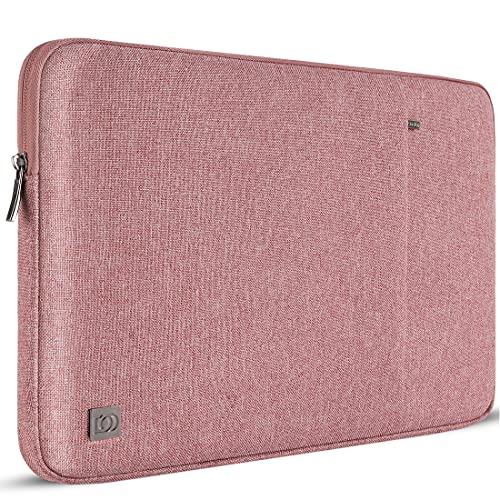 "DOMISO 13,3 Pollici Custodia Borsa per Computer Portatile PC Protettiva Laptop Sleeve per 13"" MacBook Air A1466 A1369/MacBook PRO Retina A1502 A1425/13.5"" Surface Book/13.3"" ThinkPad L380 L390, Rosa"