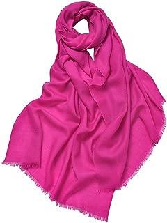 prettystern Wolle Einfarbig 80 Garn Unifarbe Pashmina Damen-Schal