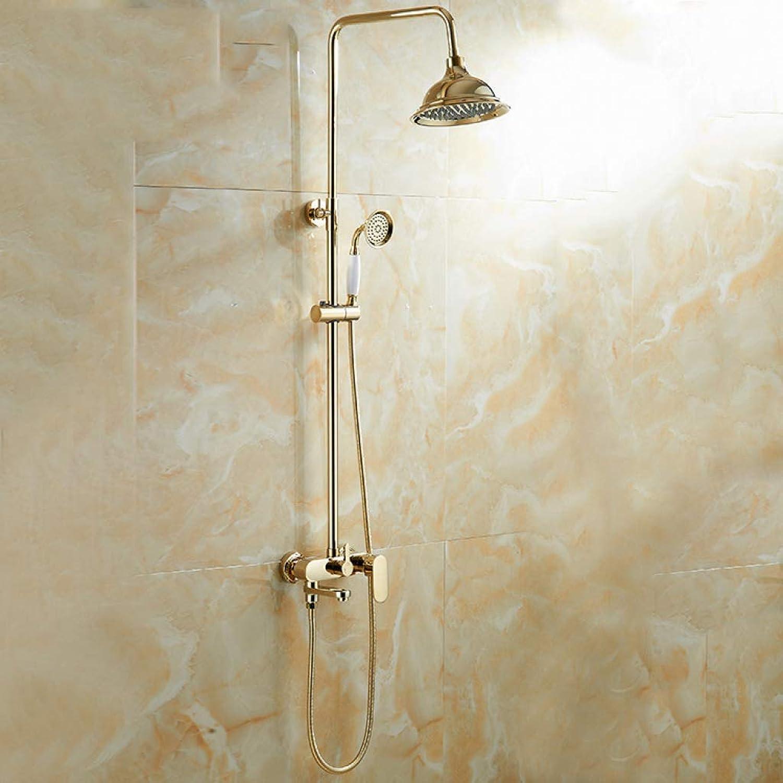 LHW Shower Set chsets, Gold, Duschkopf, Antique Dusche Set, Europische, Kupfer, Bad, Hot & Cold Dusche