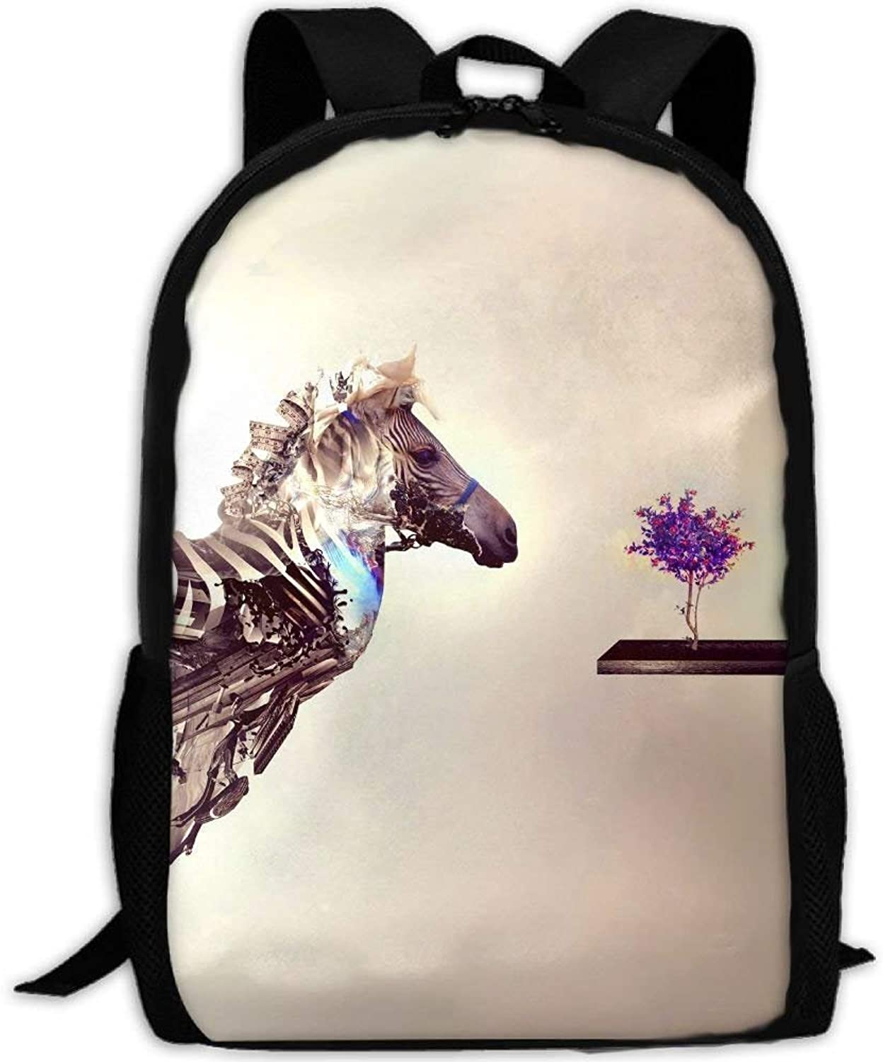 5c8797456b87 Backpack Adult Artistic Bonsai Explosion Japan Zebra Unique Daypacks ...