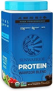 Sunwarrior - Warrior Blend, Plant Based, Raw Vegan Protein Powder with Peas & Hemp, Chocolate, 30 Servings