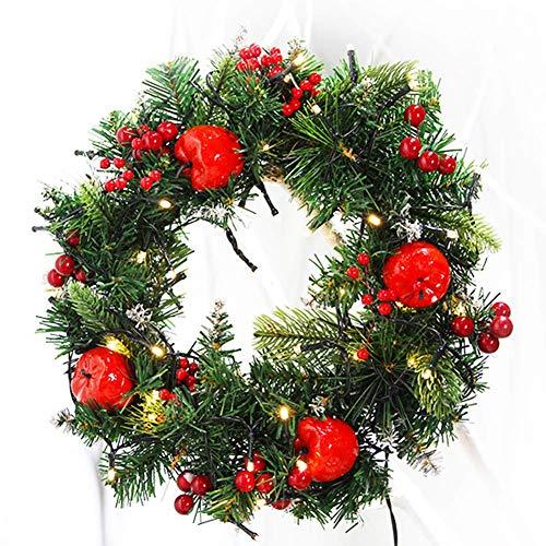 SuRose Weihnachtskranz, Künstliche Weihnachtsgirlandenrebe Außendekoration In Der Haustür 40 cm,B