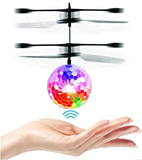 UTTORA Flying Ball, Kids Toys RC Infrared Induction Helicopter Airplane Fun Gadgets Mini Drone Flying Toys with Flashing L...