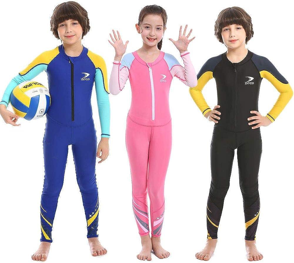 Kids Baby Boy Girls Sun Protective Swimwear Rash Guard Swim Costume Bathing Suit