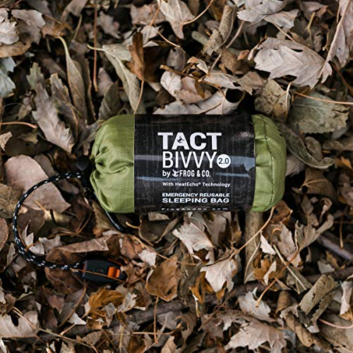 Product Image 7: Tact Bivvy 2.0 HeatEcho Emergency Sleeping Bag, Compact Ultra Lightweight, Waterproof, Thermal Bivy Cover, Emergency Shelter Survival Kit – w/Stuff Sack, Carabiner, Survival Whistle + ParaTinder