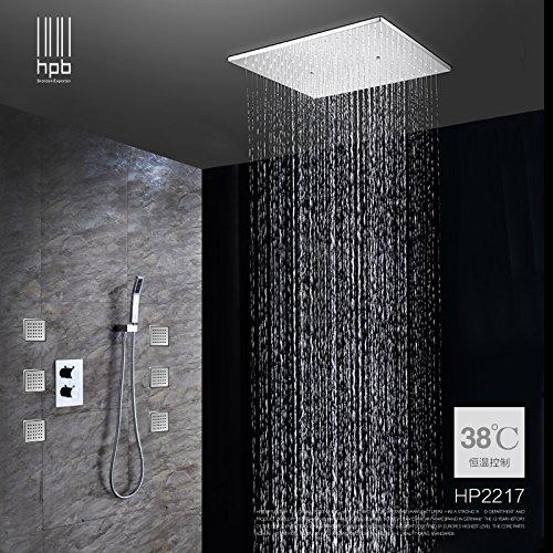 Fx@ Voll-Messing Baldachin-Regen fällt verdeckte Dusche/Bad Wand-Thermostat Luxusdusche