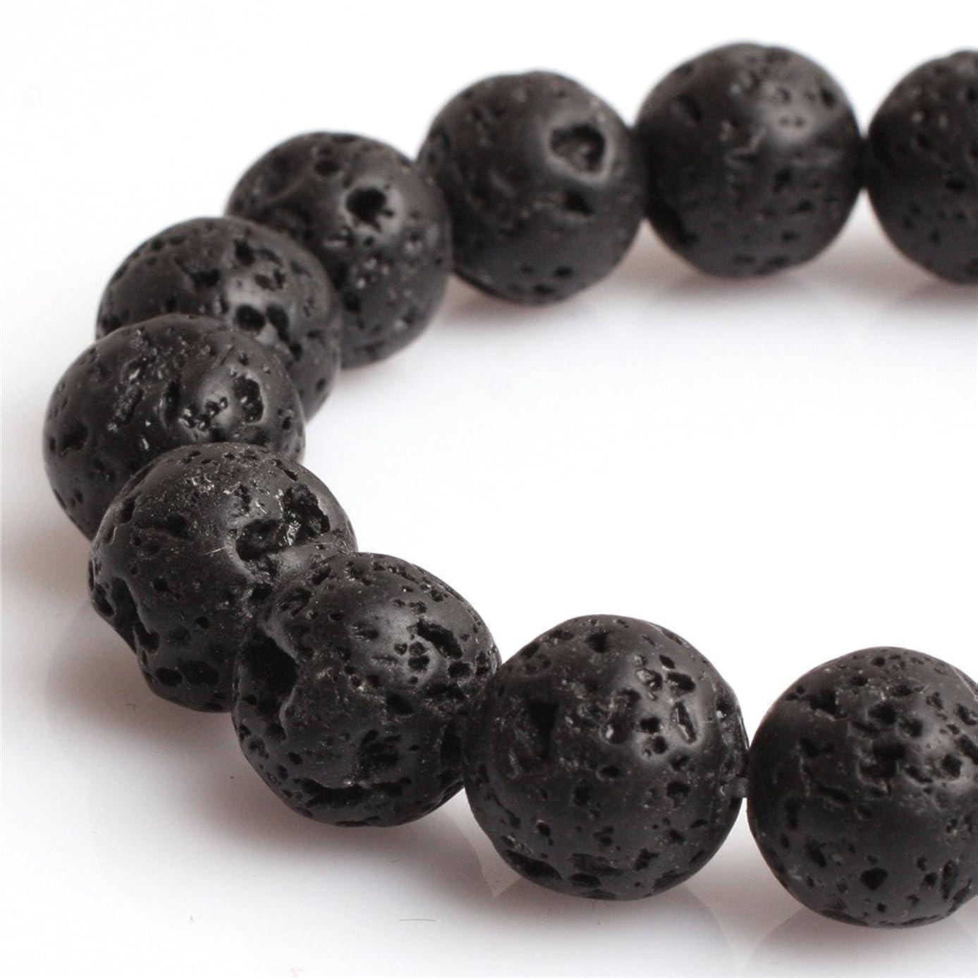 20mm Black Lava Rock Beads for Jewelry Making Natural Gemstone Semi Precious Round 15