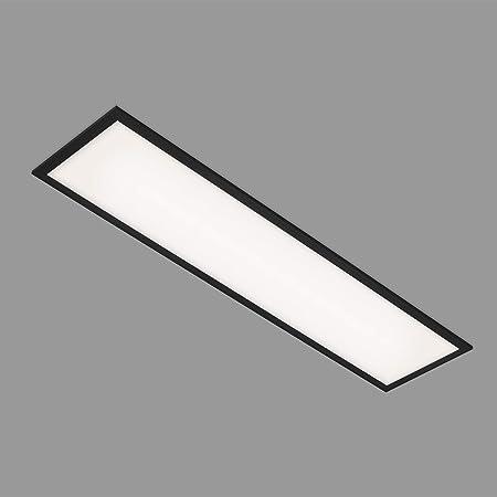 Briloner Leuchten - Panneau LED, plafonnier LED, lampe de plafond 22 Watt, 2.200 Lumen, 4.000 Kelvin, blanc-noir, 1.000x250x60mm (LxWxH) 7067-015
