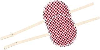 Prettyia 1 Pair Washable Underarm Armpit Sweat Absorbing Pad Shields - Red Grid, 13.5 x 11.2 cm