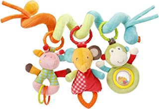 Fehn 074451 Activity-Spirale Safari – Stoff-Spirale zum Greifen und Fühlen für Bett, Kinderwagen, Laufgitter anpassbar – Für Babys und Kleinkindern ab 0 Monaten – Maße: 30cm lang