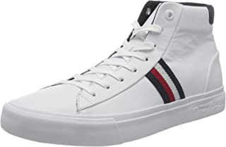 Tommy Hilfiger Leather, Sneaker Corporate Midcut in Pelle Uomo