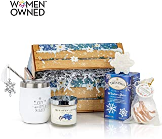 Winter Wonderland Care Package For Women: She'll Adore This Christmas Gift Basket, Holiday Gift Basket, Birthday Gift Basket, Self Care Package, Cozy Gift Basket, & Thank You Basket Gift Box for Women